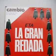 Coleccionismo de Revista Cambio 16: REVISTA CAMBIO 16 Nº 228-AÑO 1976: ETA, LA GRAN REDADA. Lote 46938702