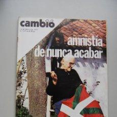 Colecionismo da Revista Cambio 16: REVISTA CAMBIO 16 Nº 275-AÑO 1977: AMNISTIA DE NUNCA ACABAR-EUROCOMUNISMO: MARCHAIS, CARRILLO.... Lote 46939212