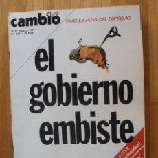 Coleccionismo de Revista Cambio 16: REVISTA CAMBIO 16, ABRIL 1977, NUMERO 279. Lote 47018114