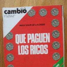 Coleccionismo de Revista Cambio 16: REVISTA CAMBIO 16, JULIO 1977, NUMERO 294. Lote 47018726