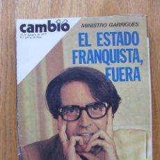Coleccionismo de Revista Cambio 16: REVISTA CAMBIO 16, AGOSTO 1977, NUMERO 297. Lote 47018841