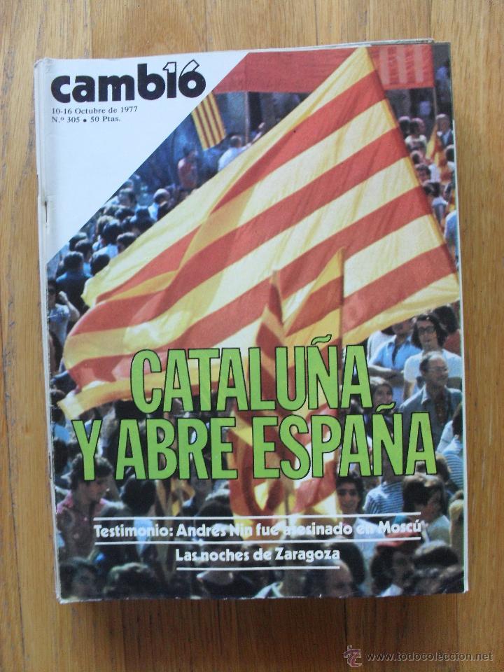 REVISTA CAMBIO 16, OCTUBRE 1977, NUMERO 305 (Coleccionismo - Revistas y Periódicos Modernos (a partir de 1.940) - Revista Cambio 16)