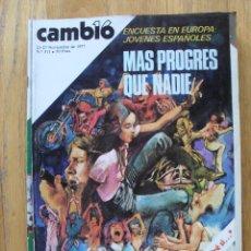 Coleccionismo de Revista Cambio 16: REVISTA CAMBIO 16, NOVIEMBRE 1977, NUMERO 311. Lote 47019425