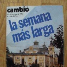 Coleccionismo de Revista Cambio 16: REVISTA CAMBIO 16, NOVIEMBRE 1975, NUMERO 204. Lote 47022083