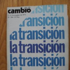 Coleccionismo de Revista Cambio 16: REVISTA CAMBIO 16, NOVIEMBRE 1975, NUMERO 206. Lote 47022163