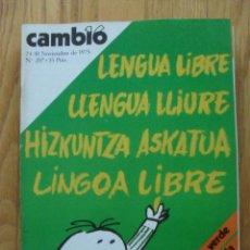 Coleccionismo de Revista Cambio 16: REVISTA CAMBIO 16, NOVIEMBRE 1975, NUMERO 207. Lote 47022227