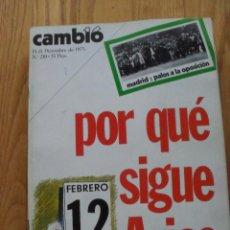 Coleccionismo de Revista Cambio 16: REVISTA CAMBIO 16, DICIEMBRE 1975, NUMERO 210. Lote 47022377