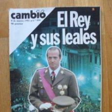 Coleccionismo de Revista Cambio 16: REVISTA CAMBIO 16, MARZO 1981, NUMERO 484. Lote 47358148