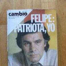 Coleccionismo de Revista Cambio 16: REVISTA CAMBIO 16, MARZO 1981, NUMERO 486. Lote 47358282