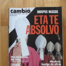 Coleccionismo de Revista Cambio 16: REVISTA CAMBIO 16, ABRIL 1981, NUMERO 489. Lote 47358388