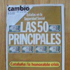 Coleccionismo de Revista Cambio 16: REVISTA CAMBIO 16, ABRIL 1981, NUMERO 491. Lote 47359632