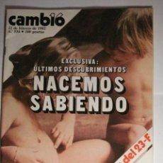 Coleccionismo de Revista Cambio 16: REVISTA CAMBIO16 Nº 534 AÑO 1982 - INCOGNITAS DEL 23 E - MUERTE CHANQUETE - MIRA OTRAS EN MI TIENDA. Lote 48472824