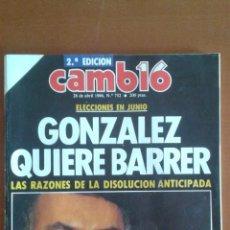 Coleccionismo de Revista Cambio 16: REVISTA CAMB16 CAMBIO16 Nº 752 * 28/04/1986 **. Lote 50191733