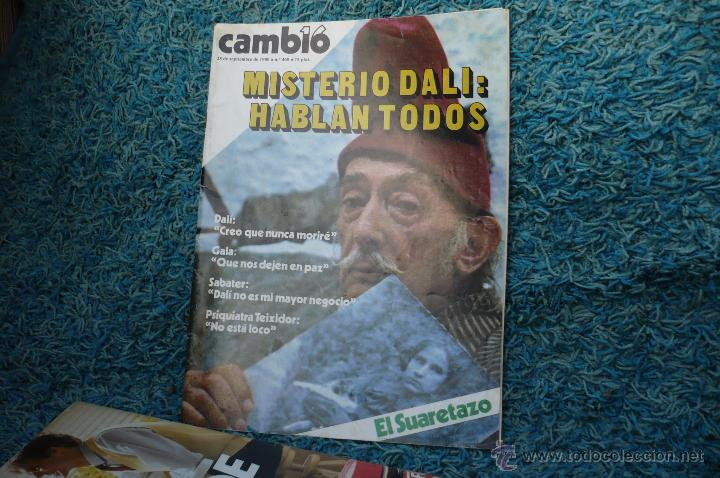 DALI -PORTADA Y REPOTARGE EN CAMBIO 16 (Coleccionismo - Revistas y Periódicos Modernos (a partir de 1.940) - Revista Cambio 16)