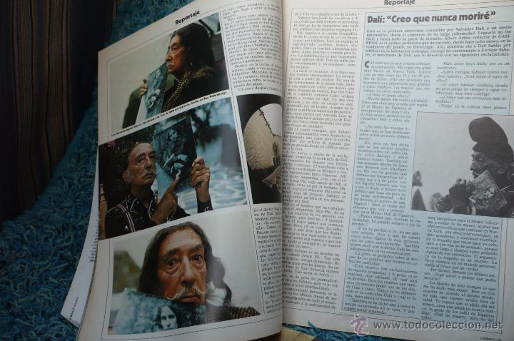 Coleccionismo de Revista Cambio 16: DALI -PORTADA Y REPOTARGE EN CAMBIO 16 - Foto 2 - 51529586