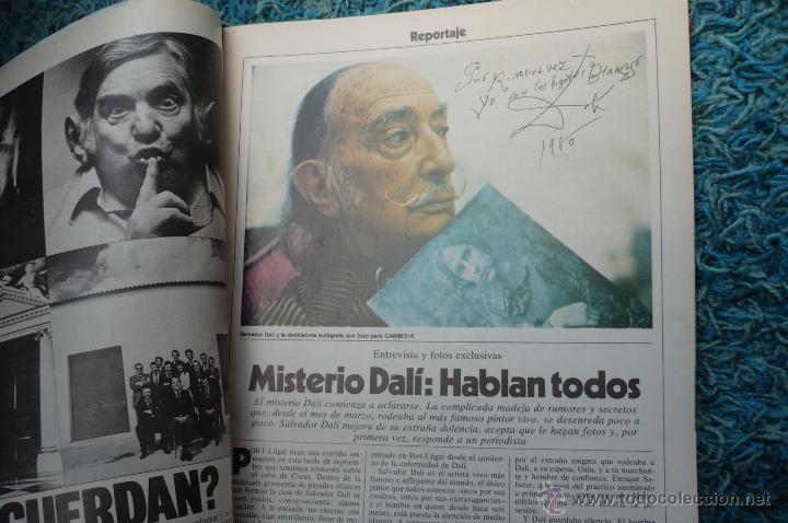 Coleccionismo de Revista Cambio 16: DALI -PORTADA Y REPOTARGE EN CAMBIO 16 - Foto 3 - 51529586