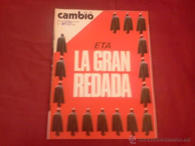 CAMBIO 16, NUM 228, ABRIL 1976: ETA LA GRAN REDADA (Coleccionismo - Revistas y Periódicos Modernos (a partir de 1.940) - Revista Cambio 16)