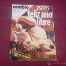 Coleccionismo de Revista Cambio 16: CAMBIO 16, NUM 212, ENERO 1976: FELIZ AÑO LIBRE. Lote 51623374