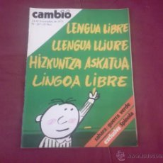 Coleccionismo de Revista Cambio 16: CAMBIO 16, NUM 207, NOVIMEBRE 1975: LENGUA LIBRE, LLENGUA LLIURE, HIZKUNTZA ASKATUA, LINGOA LIBRE. Lote 51623461