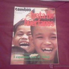 Coleccionismo de Revista Cambio 16: CAMBIO 16, NUM 176, 1975: TRATA DE HUÉRFANOS. Lote 51629733