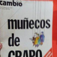 Coleccionismo de Revista Cambio 16: CAMBIO 16 MUÑECOS DEL GRAPO. Lote 54514138