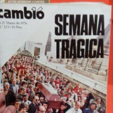 Coleccionismo de Revista Cambio 16: SEMANA TRAGICA CAMBIO 16. Lote 54514217