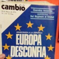 Coleccionismo de Revista Cambio 16: CAMBIO 16 EUROPA DESCONFIA. Lote 54514242