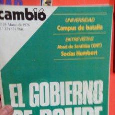 Coleccionismo de Revista Cambio 16: CAMBIO 16 EL GOBIERNO SE ROMPE . Lote 54514263