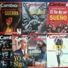 Coleccionismo de Revista Cambio 16: CAMBIO 16: 7 REVISTAS DE 1993. Lote 55531690
