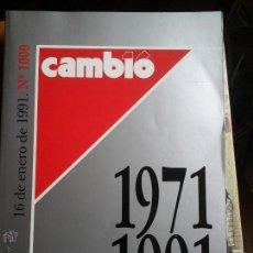 Coleccionismo de Revista Cambio 16: CAMBIO 16 DEL 1971 AL1991. Lote 53564684