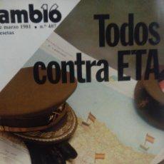 Coleccionismo de Revista Cambio 16: CAMBIO 16 TODOS CONTRA ETA . Lote 56460319