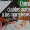 Coleccionismo de Revista Cambio 16: CAMBIO 16 QUIEN DIABLOS MATO A LOS MARQUESES . Lote 56460553