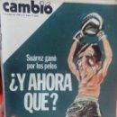 Coleccionismo de Revista Cambio 16: CAMBIO 16 SUAREZ GANO POR LOS PELOS . Lote 56460601