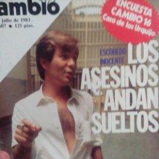 Coleccionismo de Revista Cambio 16: CAMBIO 16 ESCUDERO INOCENTE LOS ASESINOS ANDAN SUELTOS . Lote 56460771