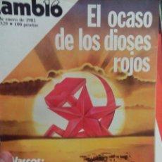 Coleccionismo de Revista Cambio 16: CAMBIO 16 EL OCASO DE LOS DIOSES ROJOS . Lote 56460902
