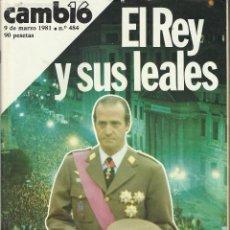 Coleccionismo de Revista Cambio 16: CAMBIO 16 Nº 484 DE MARZO DEL 1.981 DEDICADO AL GOLPE DE ESTADO DEL 23 F. Lote 56629231