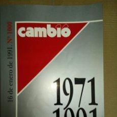 Coleccionismo de Revista Cambio 16: NUMERO 1000 REVISTA CAMBIO 16. Lote 56676777
