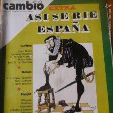 Colecionismo da Revista Cambio 16: CAMBIO 16 Nº 385 DE 1979- ESPECIAL HUMOR, LEZAMA LIMA, VARGAS LLOSA, VER+.... Lote 57383916