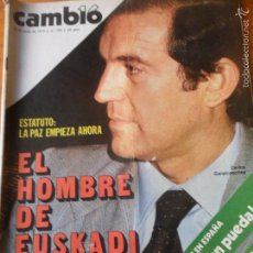 CAMBIO 16 Nº 399 DE 1979- ESTATUTO VASCO, CASSETTE PIRATAS, SANCHEZ DRAGO, VER+++