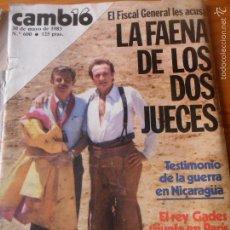 Coleccionismo de Revista Cambio 16: CAMBIO 16 Nº 600 DE 1983 - SANTOS PERALBA, HENRY KISSINGER, ANTONIO GADES, MIGUEL NARROS, IBAÑEZ, +. Lote 57433316