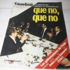 Coleccionismo de Revista Cambio 16: CAMBIO 16 QUE NO, QUE NO. Nº 238 - TRANSICIÓN DEMOCRACIA. Lote 57440847