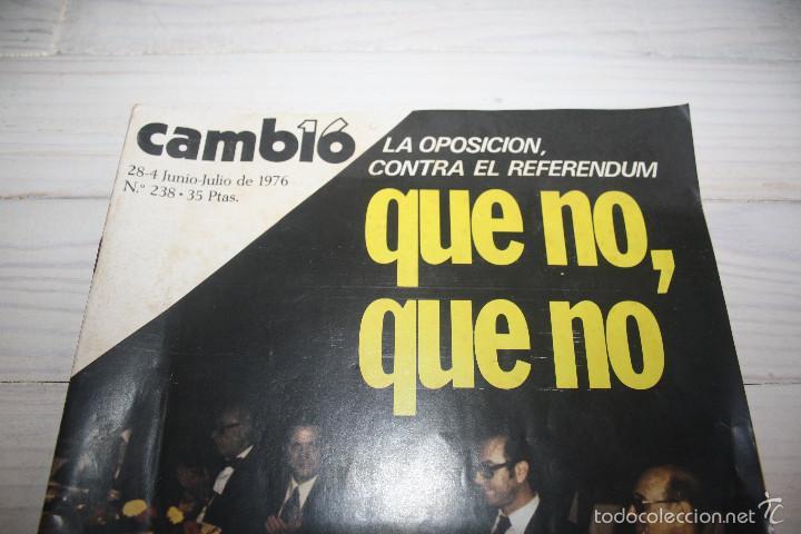 Coleccionismo de Revista Cambio 16: Cambio 16 Que no, Que no. nº 238 - Transición democracia - Foto 2 - 57440847