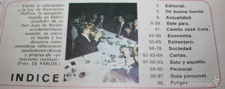 Coleccionismo de Revista Cambio 16: Cambio 16 Que no, Que no. nº 238 - Transición democracia - Foto 3 - 57440847