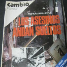 Coleccionismo de Revista Cambio 16: REVISTA CAMBIO 16 OCTUBRE 1977 Nº 304 TERRORISMO ULTRA SAHARA LIBERTAD DE EXPRESION. Lote 61228131