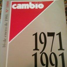 Coleccionismo de Revista Cambio 16: CAMBIO 16 1971 A 1991. Lote 61747955
