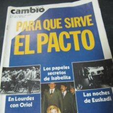 Coleccionismo de Revista Cambio 16: REVISTA CAMBIO 16 NOVIEMBRE 309 1977 LOURDES EUSKADI . Lote 62408660