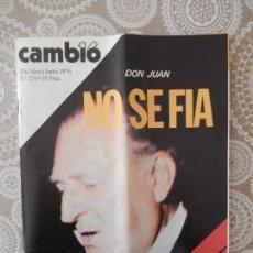 Coleccionismo de Revista Cambio 16: REVISTA CAMB16 Nº 234 - MAYO JUNIO DE 1976. Lote 63450860