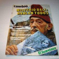 Coleccionismo de Revista Cambio 16: CAMBIO 16 - 1980 - MISTERIO DALÍ: HABLAN TODOS. Lote 65001319