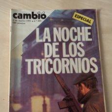 Coleccionismo de Revista Cambio 16: CAMBIO 16 Nº 483 - EN PÁGINAS CENTRALES PUBLICIDAD PLATOS DE SALVADOR DALÍ. Lote 66235810