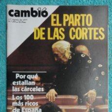 Coleccionismo de Revista Cambio 16: REVISTA CAMBIO 16 ,N º 295, 1977 ,AHORA ,LA CONSTITUCION -PRESOS Y PARTIDOS -ESPIONAJE ELECTORAL. Lote 70011785